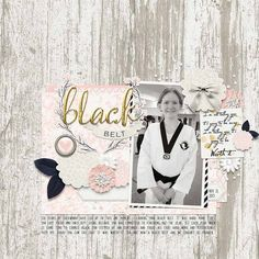 Black Belt by Annette Pixley (pixleyyy) using A New Me by @riverrosedesign