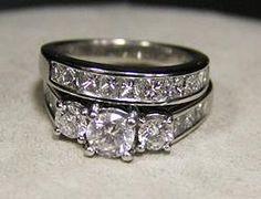 (23-00014-02) 14k White Gold 2.75ct Dia Wedding