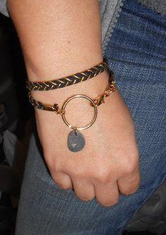 Beach Stone Jewelry  Beachstone Nautical Wrap by SeaFindDesigns, $30.00