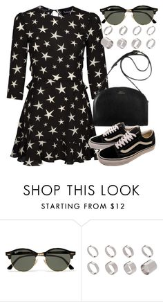 """""""Untitled #5776"""" by rachellouisewilliamson ❤ liked on Polyvore featuring Whiteley, Vans, Ray-Ban and ASOS"""