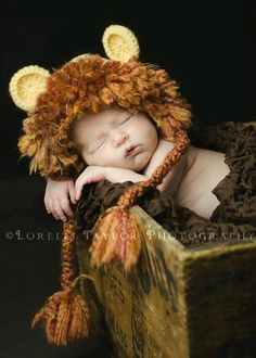 Newborn Lion Hat Photography Prop by KaseyCreations on Etsy, $22.00