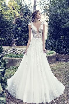 Came from heaven, just for costantino brides! A new era begins for Costantino, with two new members joining the designing team. With Fay and Marianna,. Dream Wedding Dresses, Bridal Dresses, Walking Down The Aisle, Dress Skirt, Celestial, Bride, Elegant, Campaign, Inspiration