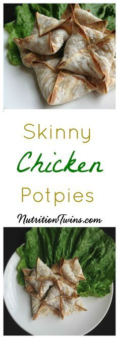 Skinny Chicken Pot Pie | Lightened Up Comfort Food | Crunchy Outside, Savory | Delicious Way to Get Vegetables | Only 56 Calories | For MORE RECIPES, fitness & nutrition tips please SIGN UP for our FREE NEWSLETTER www.NutritionTwinss.com