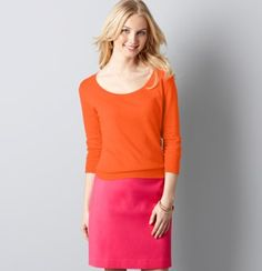 tangerine and pink!  Love.