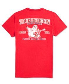 c51e69a53da True Religion Men s Double Puff Graphic T-Shirt - Red L