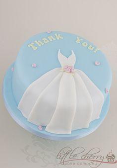 Thank-you Wedding Dress cake