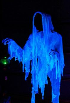 2015 Halloween ghost decor with floating candle - woman, cloaked - LoveItSoMuch.com