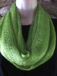 fine lace infinity scarf