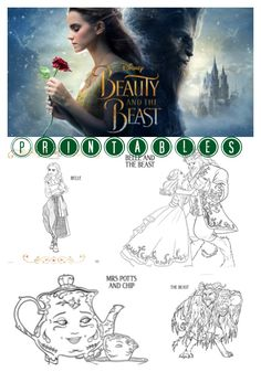 Beauty and The Beast printable coloring sheets, coloring sheets, Disney coloring sheets, Disney printables