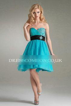 Fantastic Chiffon Sweetheart A Line Prom Dress,Short Homecoming Dress