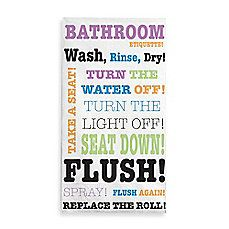 image of Bathroom Rules 3-Ply Guest Towels (Set of 16)