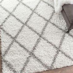 nuLOOM Shanna Shaggy 160x229cm Rug, White