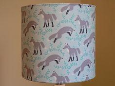 Fox in Socks Handmade 20cm Drum Lampshade via Etsy