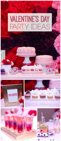 Such a gorgeous Mommy & Me Valentine's Day party in pink, purple, and red with touches of gold! See more party planning ideas at CatchMyParty.com!