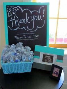 Baby boy babyshower party favors buba loves wood pinterest thank you sign and baby shower favors by tracy sam negle Gallery