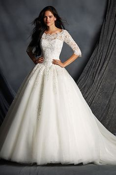 Wedding gown by Alfred Angelo.Check out more gorgeous dresses in our Alfred…