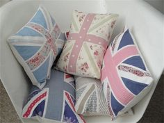 Custom Made Union Jack Cushion by MollyMooJessicatoo on Etsy, £26.00