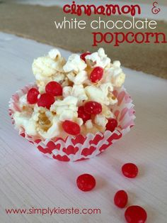 {valentine's family night} my top family valentine movies list  and cinnamon & white chocolate popcorn! {at simplykierste.com}