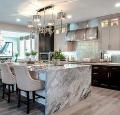 Awesome Luxury Dream Kitchen Design Ideas - - Spacious Modern Home Plan with Lower Level Expansion - thumb - 03 . 50 Adorable White Kitchen Design Ideas To Inspiring Your Kitchen Luxury Kitchen Design, Dream Home Design, Luxury Kitchens, Home Kitchens, Dream Kitchens, Home Interior, Kitchen Interior, Interior Design, Interior Ideas