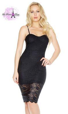 ed8d2b332 Comprar Vestido lencero negro estilismo luxury online Moda mujer low cost  lareinadeparis