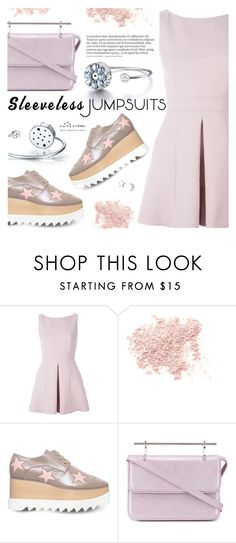 """""""All-in-One: Sleeveless Jumpsuits"""" by totwoo ❤ liked on Polyvore featuring Alexander McQueen, Bare Escentuals, STELLA McCARTNEY and M2Malletier"""