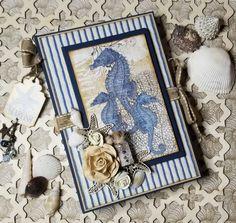 DIY Beach Mini Album – Graphic 45 Papers Digital Scrapbooking Freebies, Scrapbooking Layouts, Mini Photo Albums, Mini Albums, Nautical Design, Nautical Theme, Mini Scrapbook Albums, Graphic 45, Beach Themes
