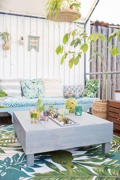 DIY   Bepflanzter Lounge Tisch Für Den Balkon