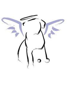 Dog Angel  or Sympathy card by rottweilergiftshop on Etsy, $2.50