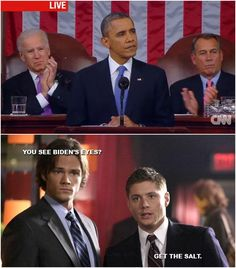 Haha! I watched that speech and thought the same thing. I actually rewound and paused it. ROFL!!