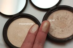 BECCA Shimmering Skin Perfector Pressed in Moonstone and Opal swatches by justinasgems blog