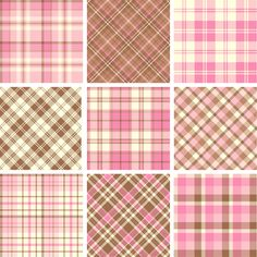 Plaid fabric patterns seamless vector 21