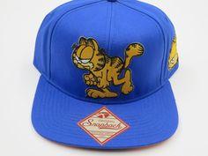 Garfield Bioworld Officially Licensed Blue Snapback Hat  #Bioworld #BaseballCap #Garfield