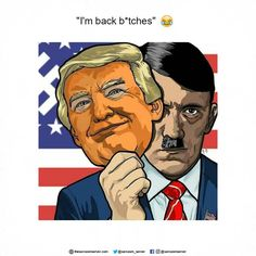 No, he\'s not Hitler (yet) but he sure as hell sounds like him....