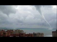 Dos Tornados en Alicante - La Vila Joiosa - Villajoyosa - Alta Definició 1080P tornado tromba
