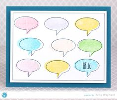 (image) Stamped & Sketched Hello Card