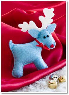 How to make felt reindeer