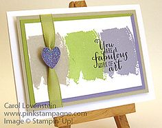 Sneak Peek – Work of Art Notecard Idea (2 of 3) Carol Lovenstein ~ Stampin' Up!