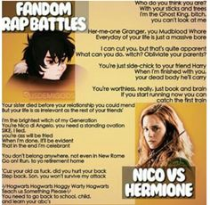 Fandom Rap Battle: Nico vs Hermione. Who won?