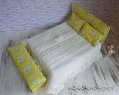 Pikkuprinsessan nukkekoti Willa Helmiina/Dollhouse to my little Princess: Romanttinen ruusu aiheinen sänky/Romantic rose themed bed...