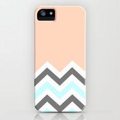 Color Blocked Chevron 11 iPhone & iPod Case by Josrick