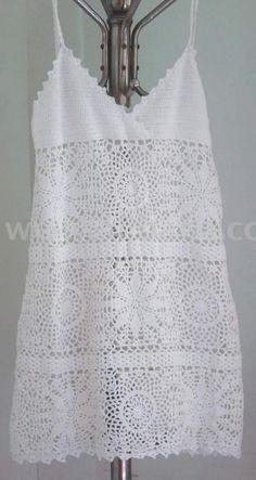 Crochet Dress (sólo el top , para pegar en vestido )