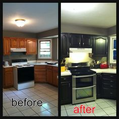 Kitchen Cabinets Java Color diy or die - general finishes java gel stained dark doors tutorial