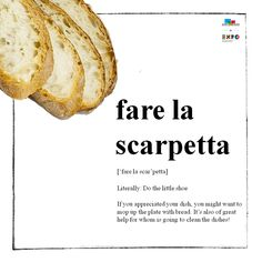 Scarpetta is a great finish to a good meal. Learn #Italian with #ShortFoodMovie! lesson #4