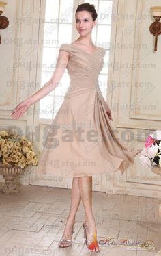 Wholesale 2013 Fashion Mother Of The Bride Dresses Sleeveless Beaded Chiffon A-line Tea-Length Zip Back, Free shipping, $84.0-85.12/Piece | DHgate