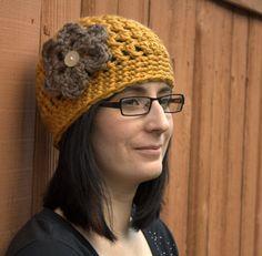 Crochet Flower Hat PATTERN