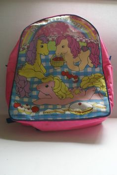 MY LITTLE PONY G1 EXCLUSIVE RARE VINTAGE MY LITTLE PONY TALES BAG BACKPACK | eBay