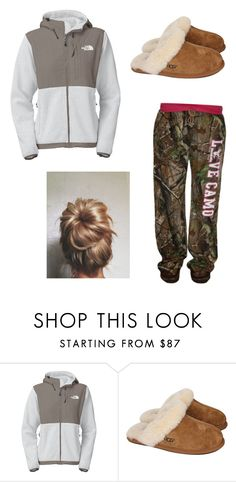 """Lazy dayz"" by kuntrycutie ❤ liked on Polyvore featuring interior, interiors, interior design, home, home decor, interior decorating, The North Face, UGG Australia and Realtree"