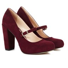 Sole Society Whitney Closed Toe Heel (190 BRL) ❤ liked on Polyvore featuring shoes, pumps, heels, footwear, burgundy, mary-jane shoes, platform mary janes, mary jane shoes, platform pumps and block-heel mary janes