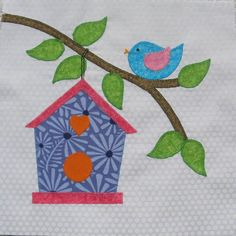 (7) Name: 'Quilting : HOME Block 8, Birdhouse
