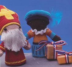 Haakpatroon Sinterklaas en zwarte piet